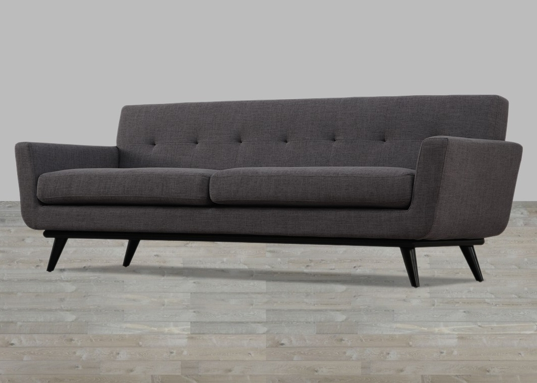 Trendy Tufted Linen Sofas For Linen Sofa Button Tufted (View 12 of 20)