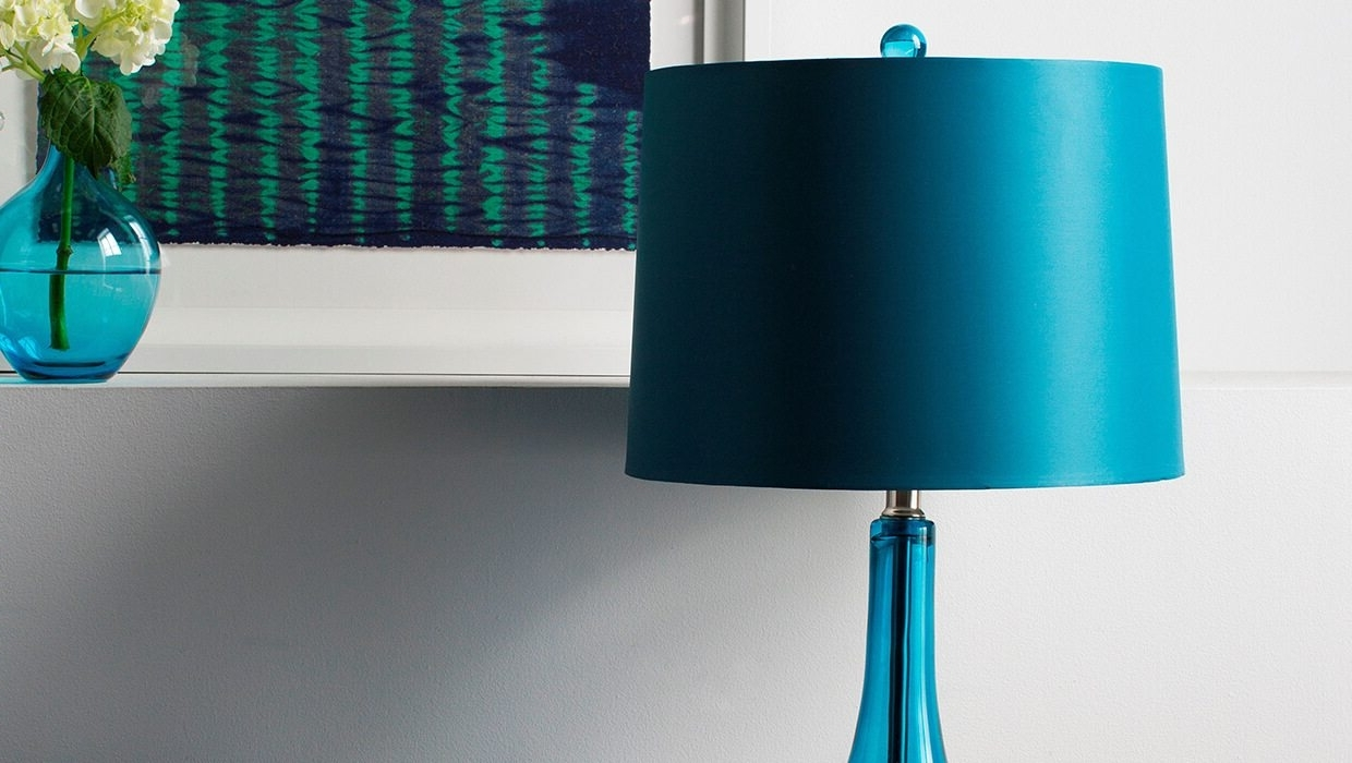 Trendy Turquoise Chandelier Lamp Shades Intended For Picking The Perfect Look For Your Lamp Shade – Overstock (View 14 of 20)