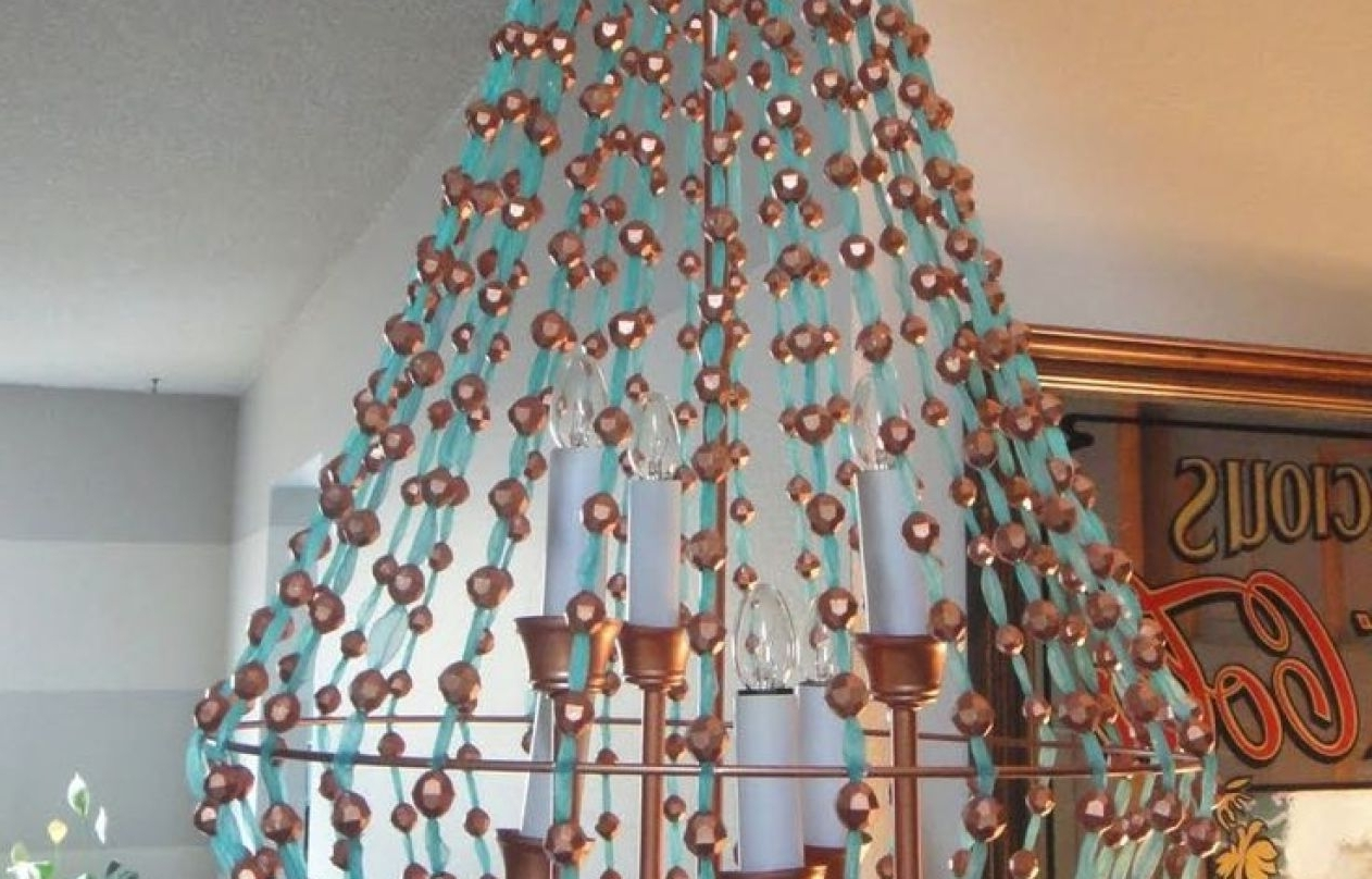 Trendy Turquoise Lantern Chandeliers Throughout Chandelier : Homemade Chandeliers Delicate Easy Homemade Chandelier (View 19 of 20)