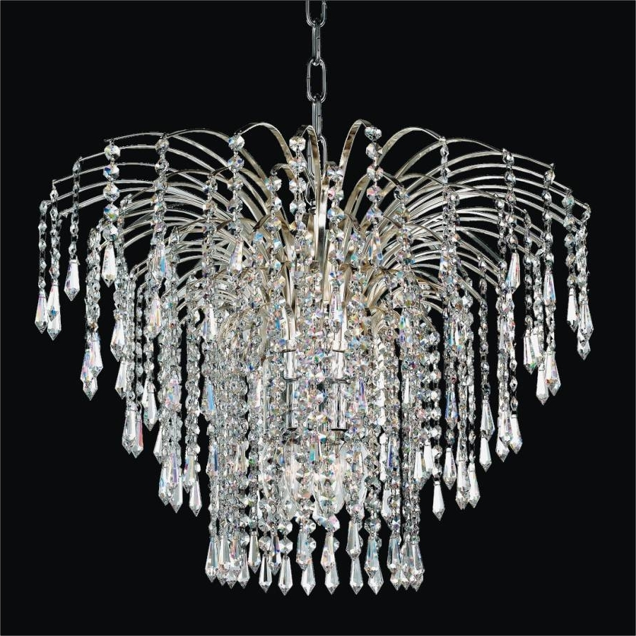 Trendy Waterfall Crystal Chandelier (View 8 of 20)
