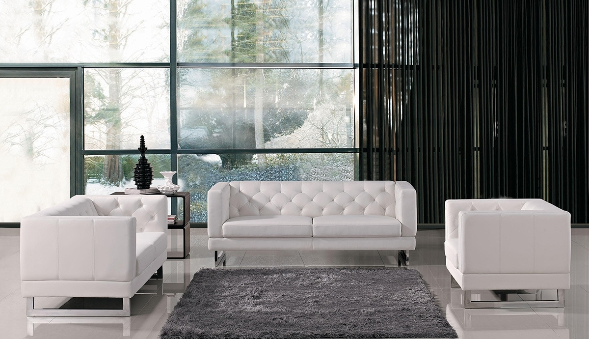 Trendy Windsor Sofas Inside Italian Design Leatherette Sofa Set (View 11 of 20)
