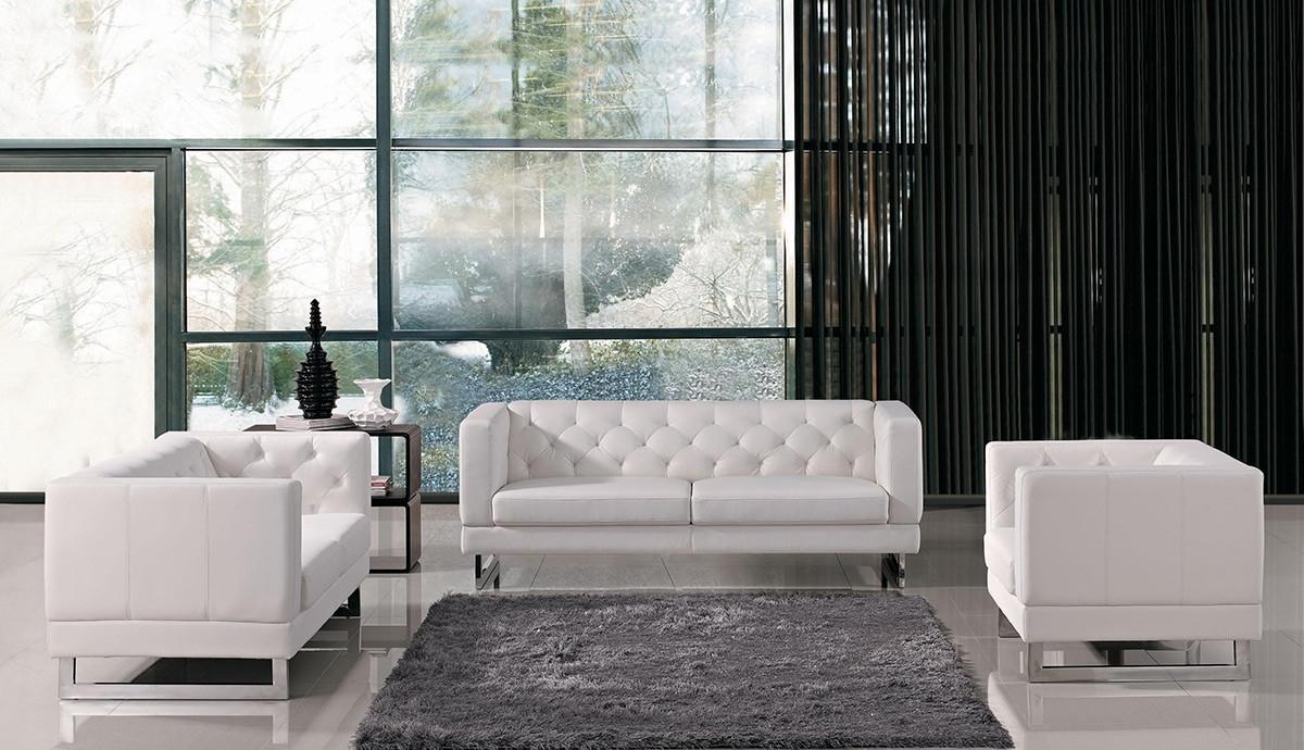 Trendy Windsor Sofas Inside Italian Design Leatherette Sofa Set (View 11 of 20)