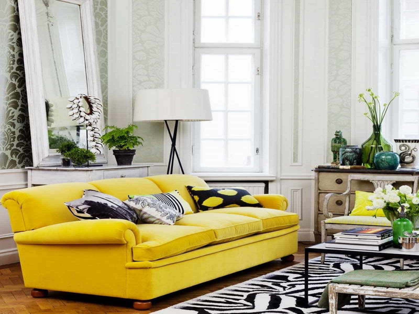Trendy Yellow Sofa Chairs Pertaining To Living Room : Interior Ideas Living Room Creative Living Room (View 9 of 20)
