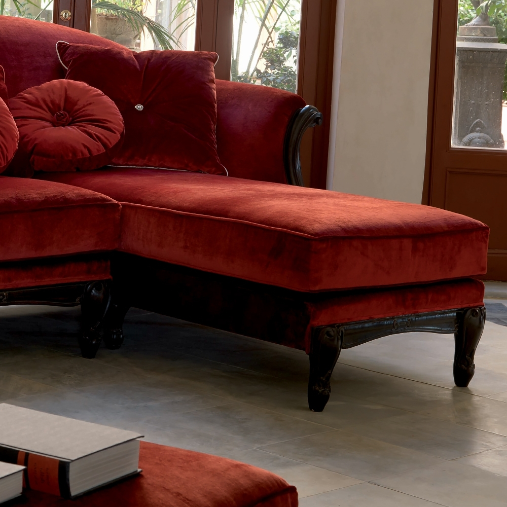 Trinidad And Tobago Sectional Sofas With Most Up To Date Luxury Red Velvet Italian Designer Sectional Sofa (View 15 of 20)
