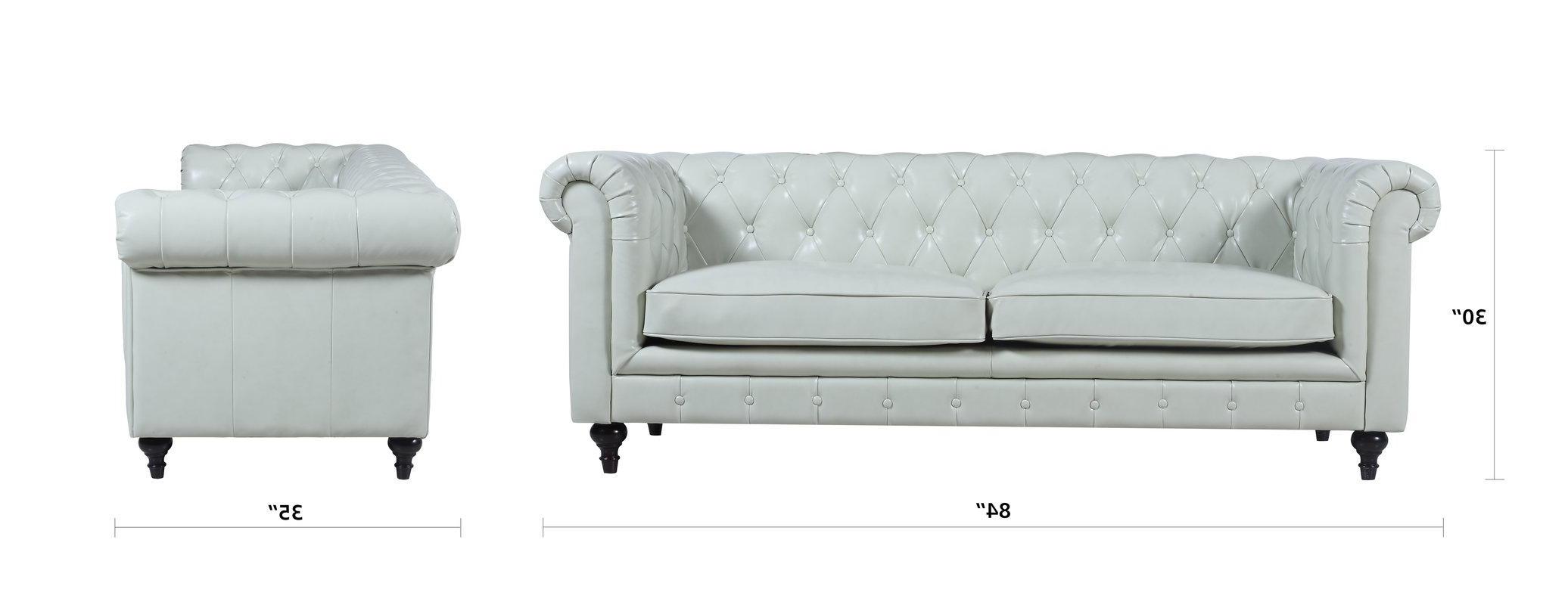 Tufted Leather Chesterfield Sofa & Reviews (View 19 of 20)