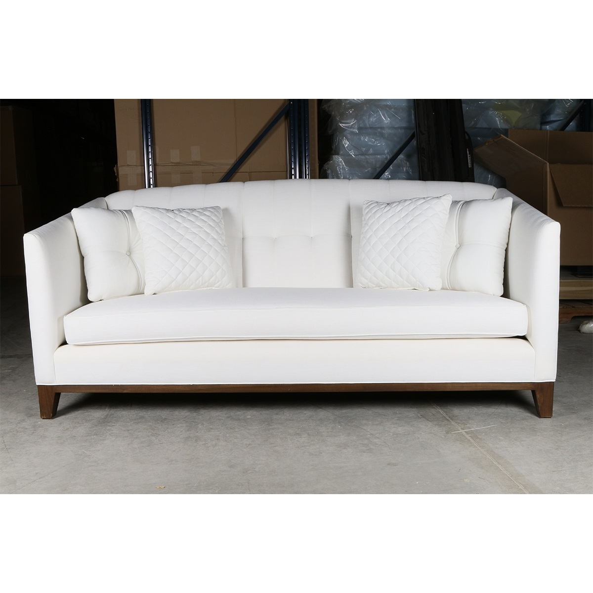 """Tufted Linen Sofas Throughout Well Liked Lois Tufted Linen Sofa 84"""" – South Cone Home Furniture (View 16 of 20)"""