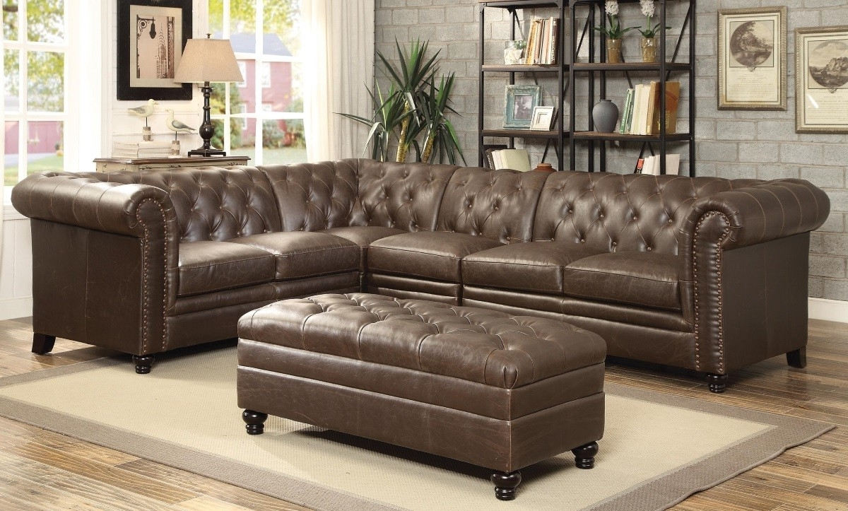 Tufted Sectional Sofas Intended For Most Recently Released Roy Button Tufted Sectional Sofa With Armless Chair Lowest Price (View 4 of 20)