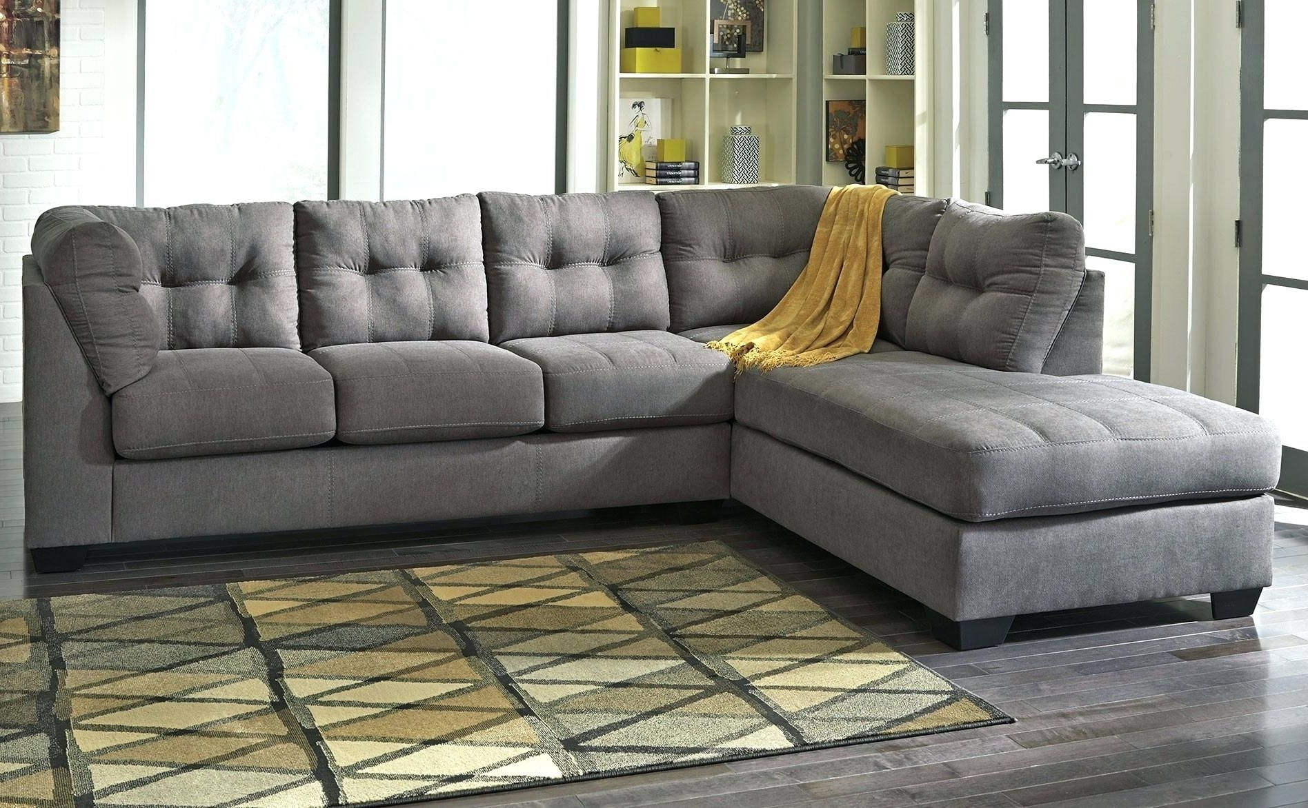 Tufted Sectional Sofas With Chaise Throughout Current Tufted Sectional Sofa Modern Grey With Chaise – Jasonatavastrealty (View 11 of 20)