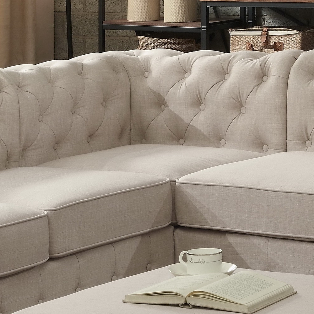 Tufted Sectional Sofas With Well Known Moser Bay Furniture Olivia Tufted Sectional Sofa – Free Shipping (View 14 of 20)