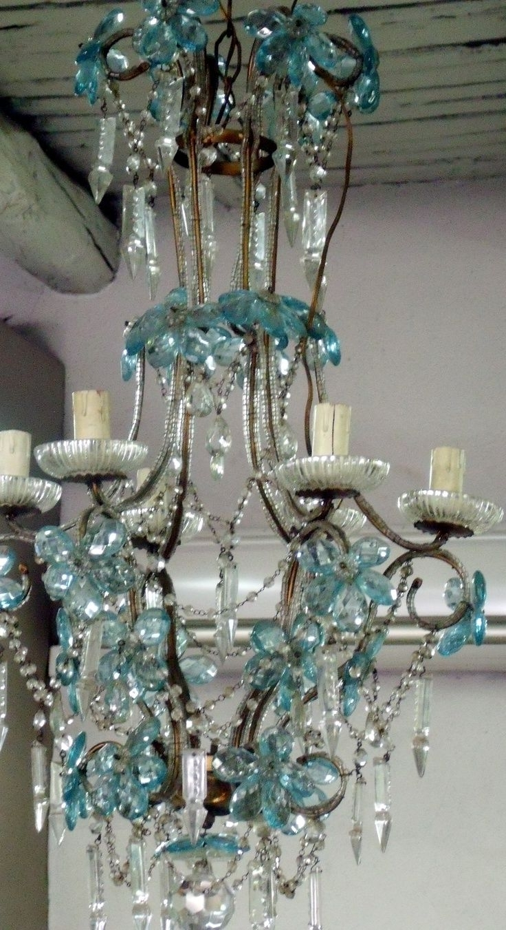 Turquoise And Pink Chandeliers Regarding Most Recently Released 51 Best Chandeliers Wind Chimes Images On Pinterest (View 14 of 20)