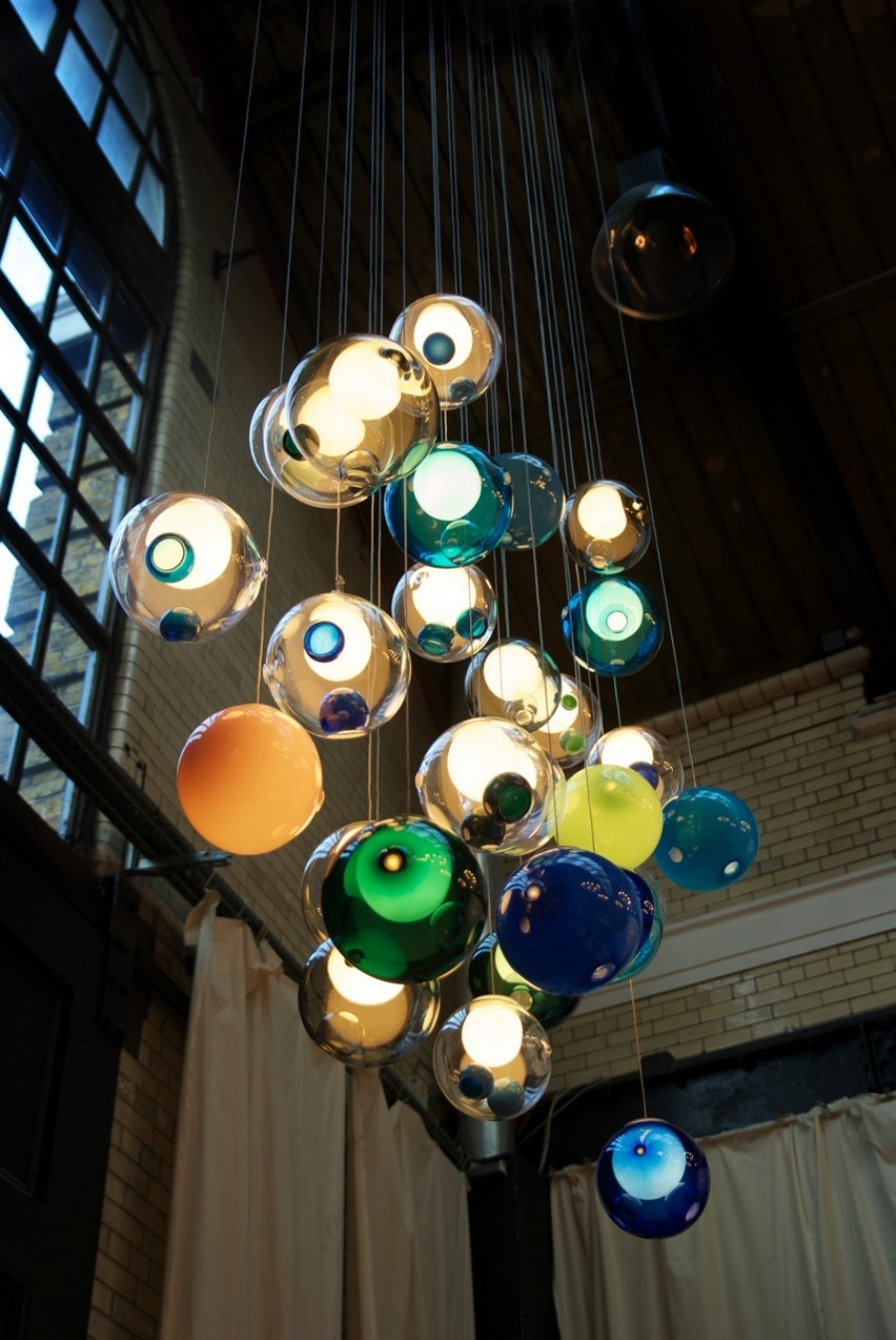 Turquoise Ball Chandeliers Intended For Trendy Glass Ball Lighting Bocci  (View 18 of 20)