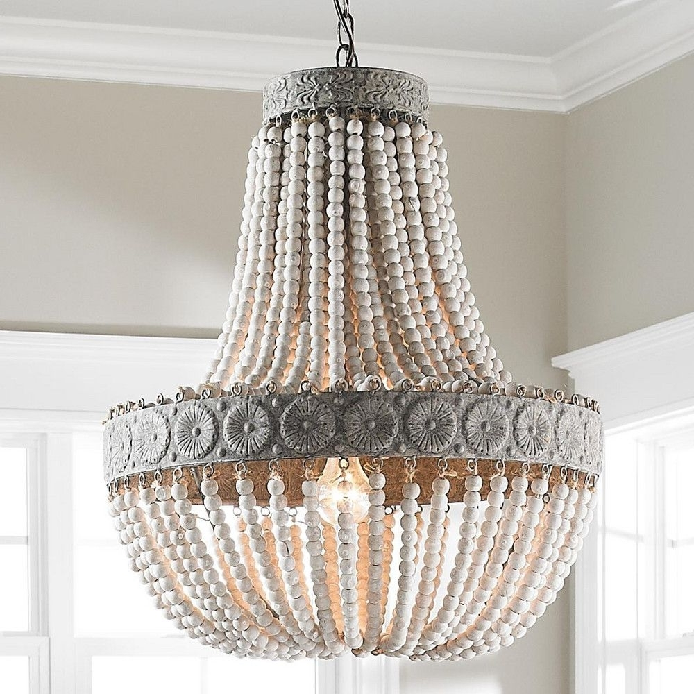 Turquoise Beaded Chandelier Light Fixtures Throughout Latest Lighting : Regina Andrew Turquoise Chandelier Light Wood Diy Small (View 17 of 20)