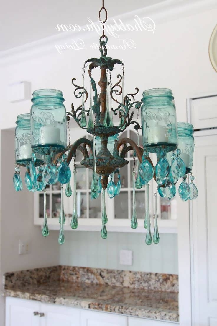 Turquoise Birdcage Chandeliers Pertaining To Recent Chandelier : Battery Operated Chandelier Deer Antler Chandelier (View 19 of 20)