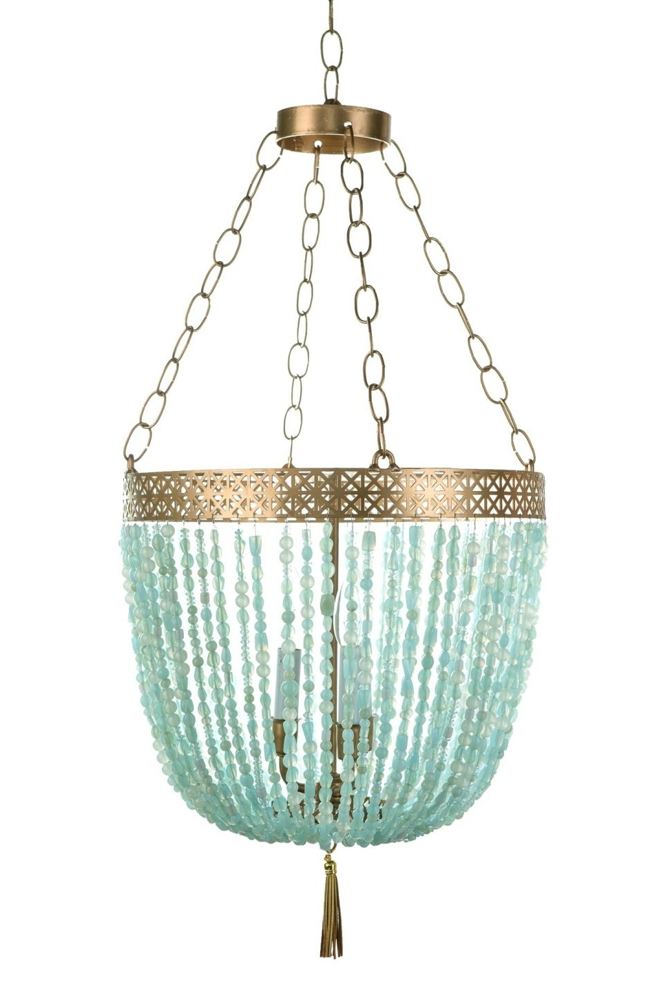 Turquoise Blue Beaded Chandeliers Inside Favorite Chandeliers Design : Magnificent Turquoise Blue Chandelier Light (View 11 of 20)