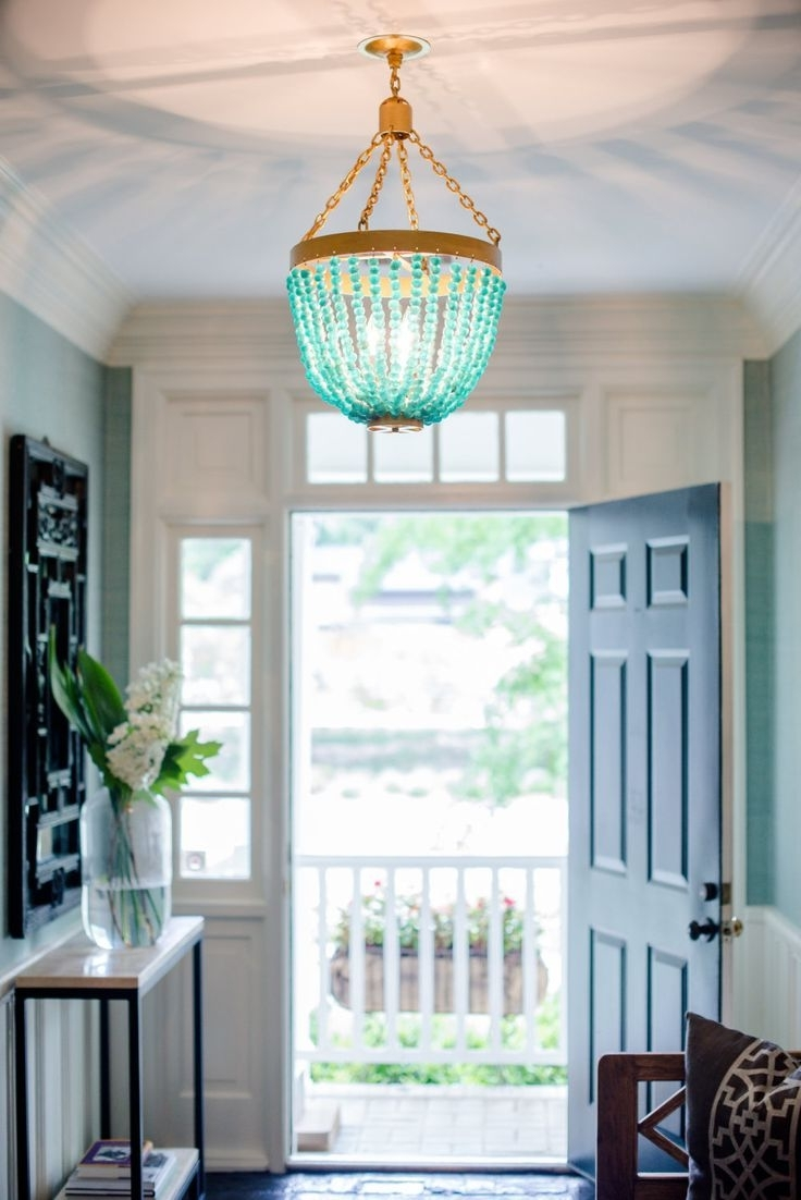 Turquoise Blue Beaded Chandeliers Within Most Recent 257 Best Lighting Love Images On Pinterest (View 15 of 20)