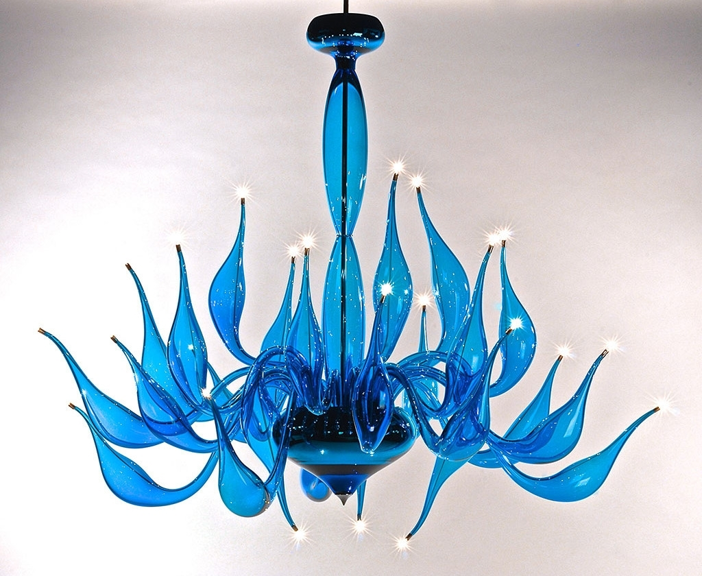 Turquoise Chandelier Lu 14 For A Modern Interior Lighting Design Throughout Current Turquoise Bubble Chandeliers (View 8 of 20)