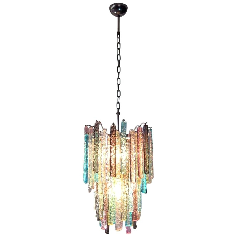 Turquoise Color Chandeliers Within Latest Multi Coloured Chandeliers Huge Chandelier Multi Color Prism In (View 15 of 20)