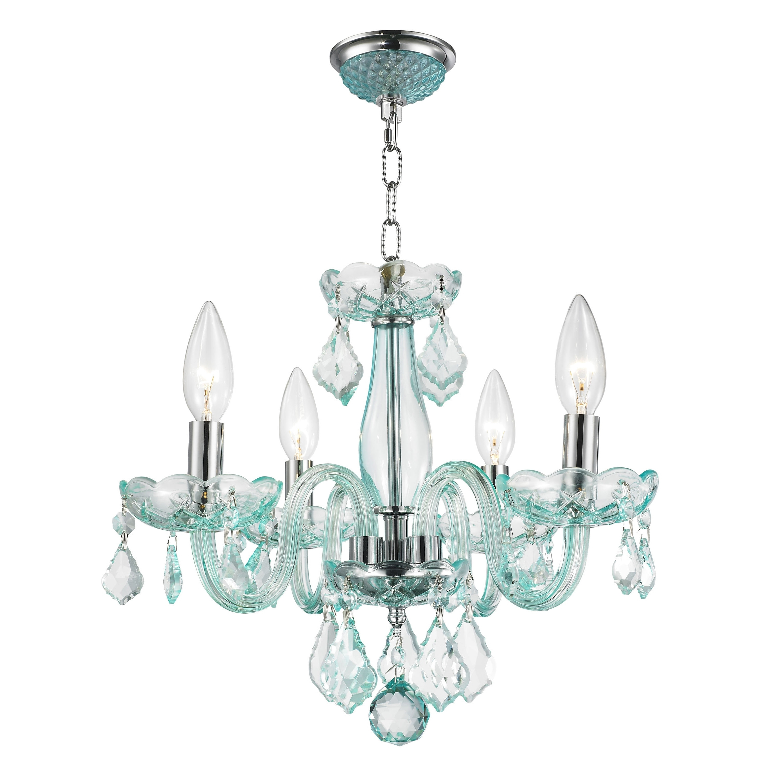Turquoise Crystal Chandelier Lights Regarding Favorite Kids Room Glamorous 4 Light Full Lead Turquoise Blue Crystal (View 18 of 20)