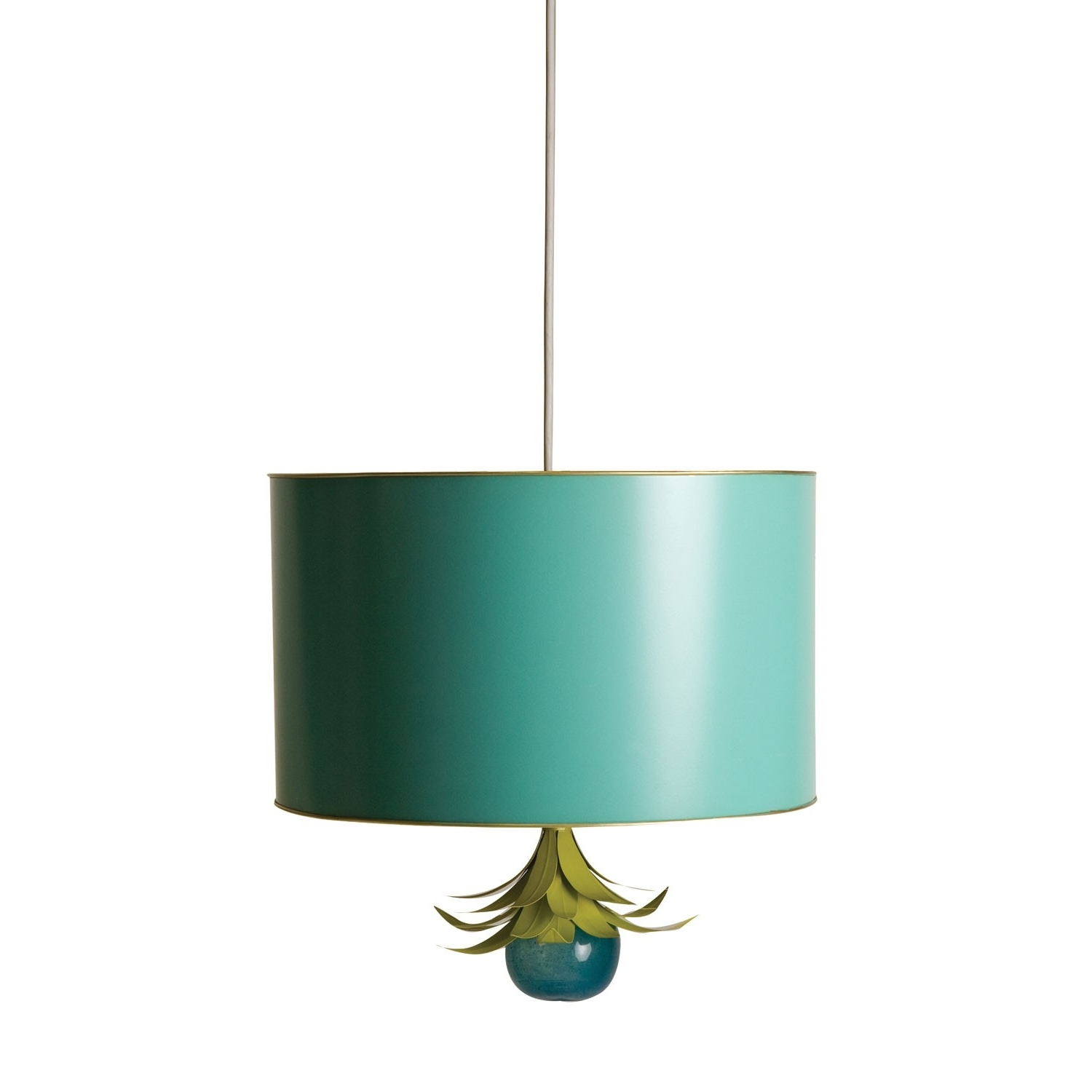 Turquoise Drum Chandeliers With Regard To Current Drum Pendant – Stray Dog Designs (View 17 of 20)