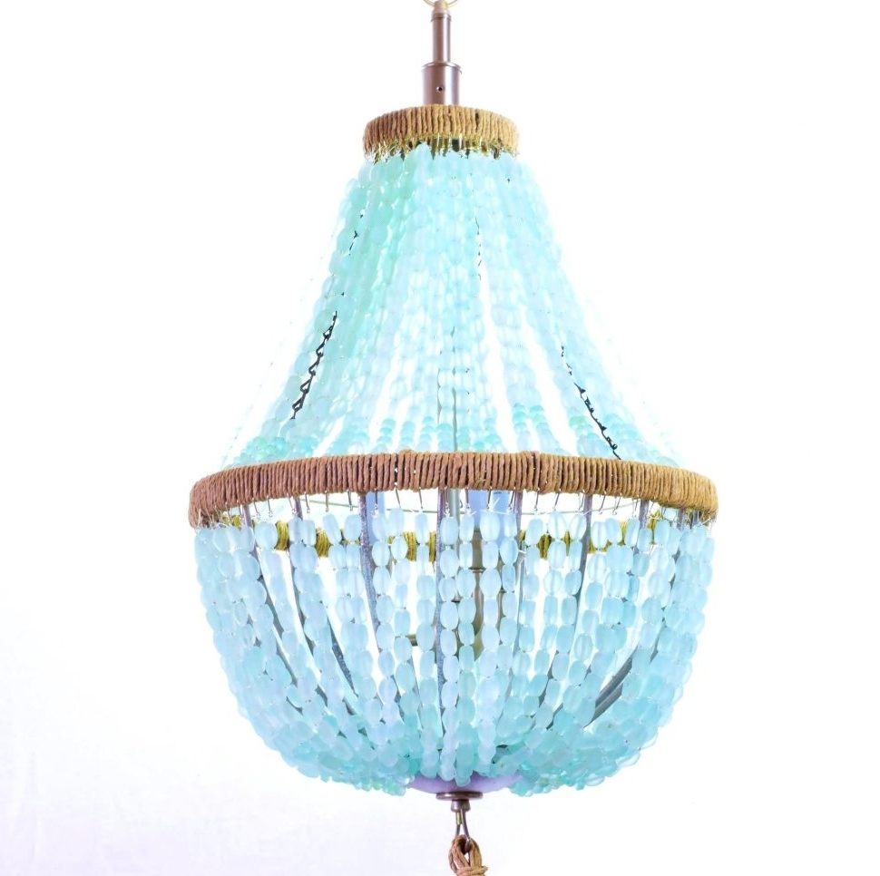 Turquoise Empire Chandeliers With Regard To Well Known Chandelier : Shell Chandelier Foyer Chandeliers Rectangular (View 18 of 20)