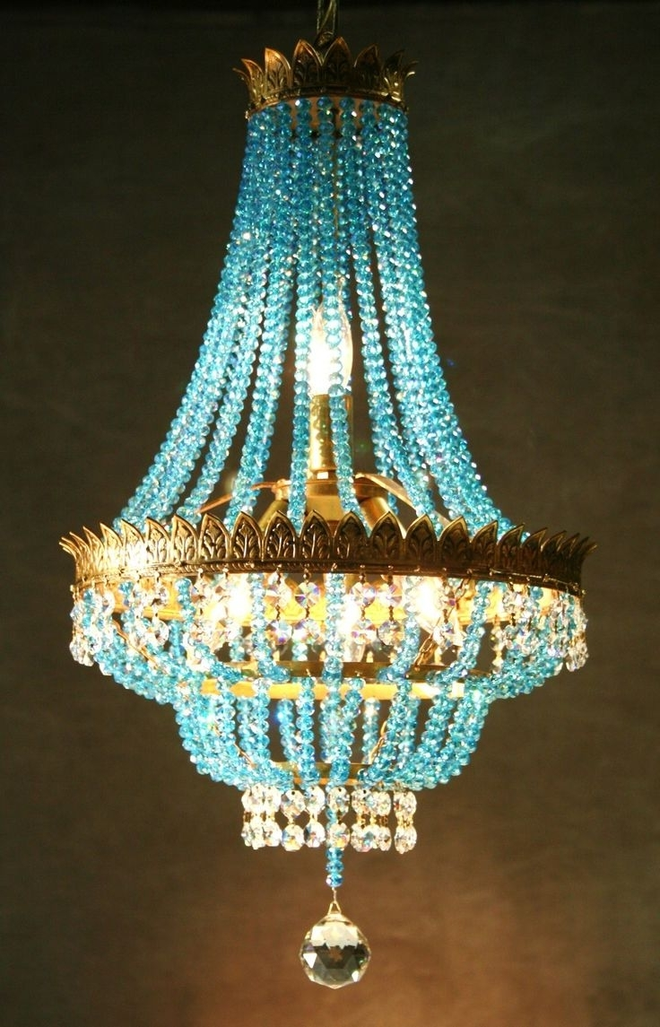 Turquoise Gem Chandelier Lamps With Regard To Popular 208 Best Chandeliers Images On Pinterest (View 6 of 20)