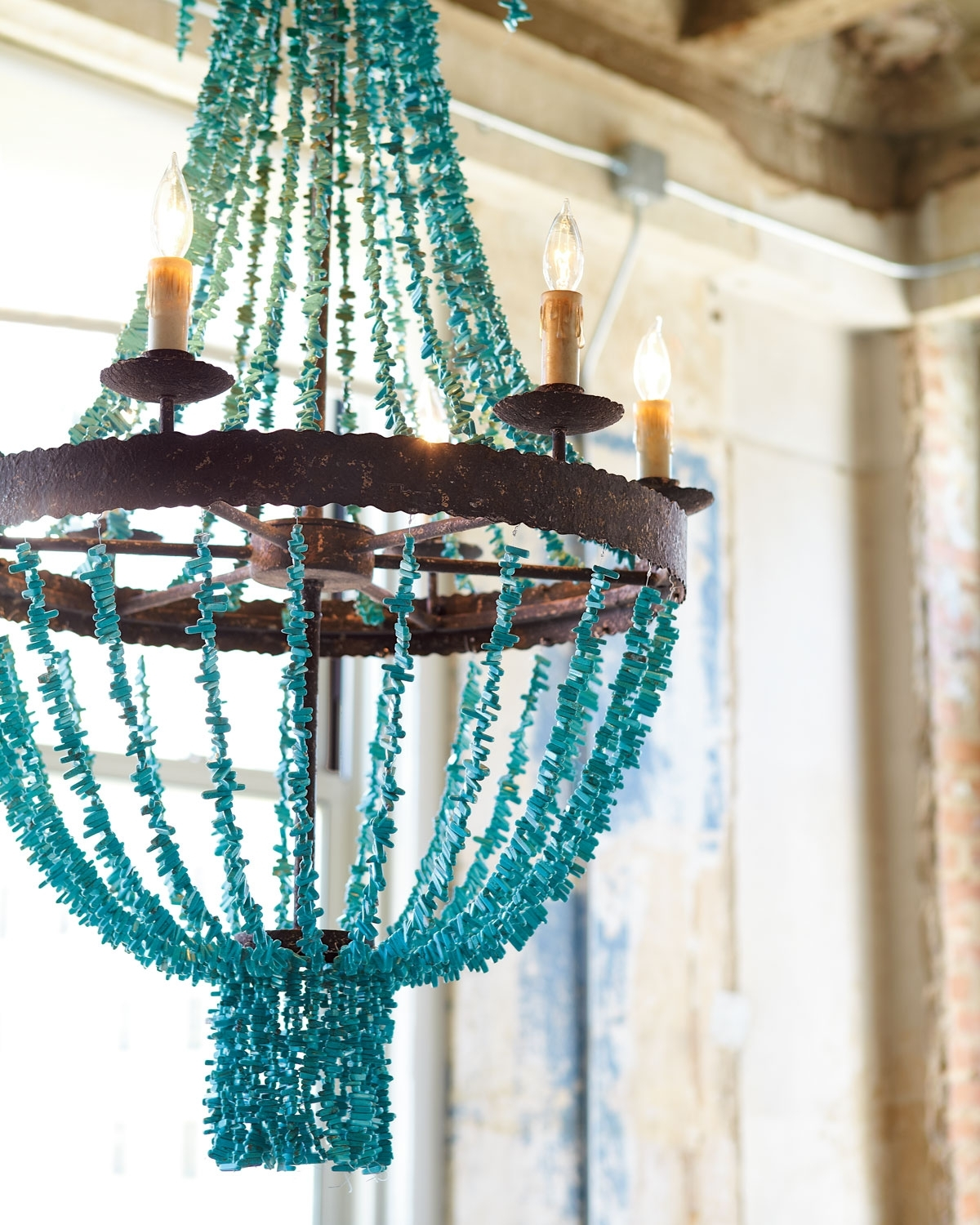 Turquoise Glass Chandelier Lighting Regarding Well Known Lighting (View 19 of 20)