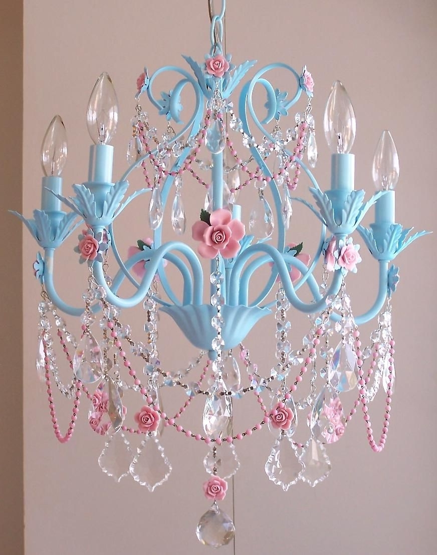 Turquoise Mini Chandeliers In Most Popular Love This! I'm Thinking These Colors For The Room (View 14 of 20)