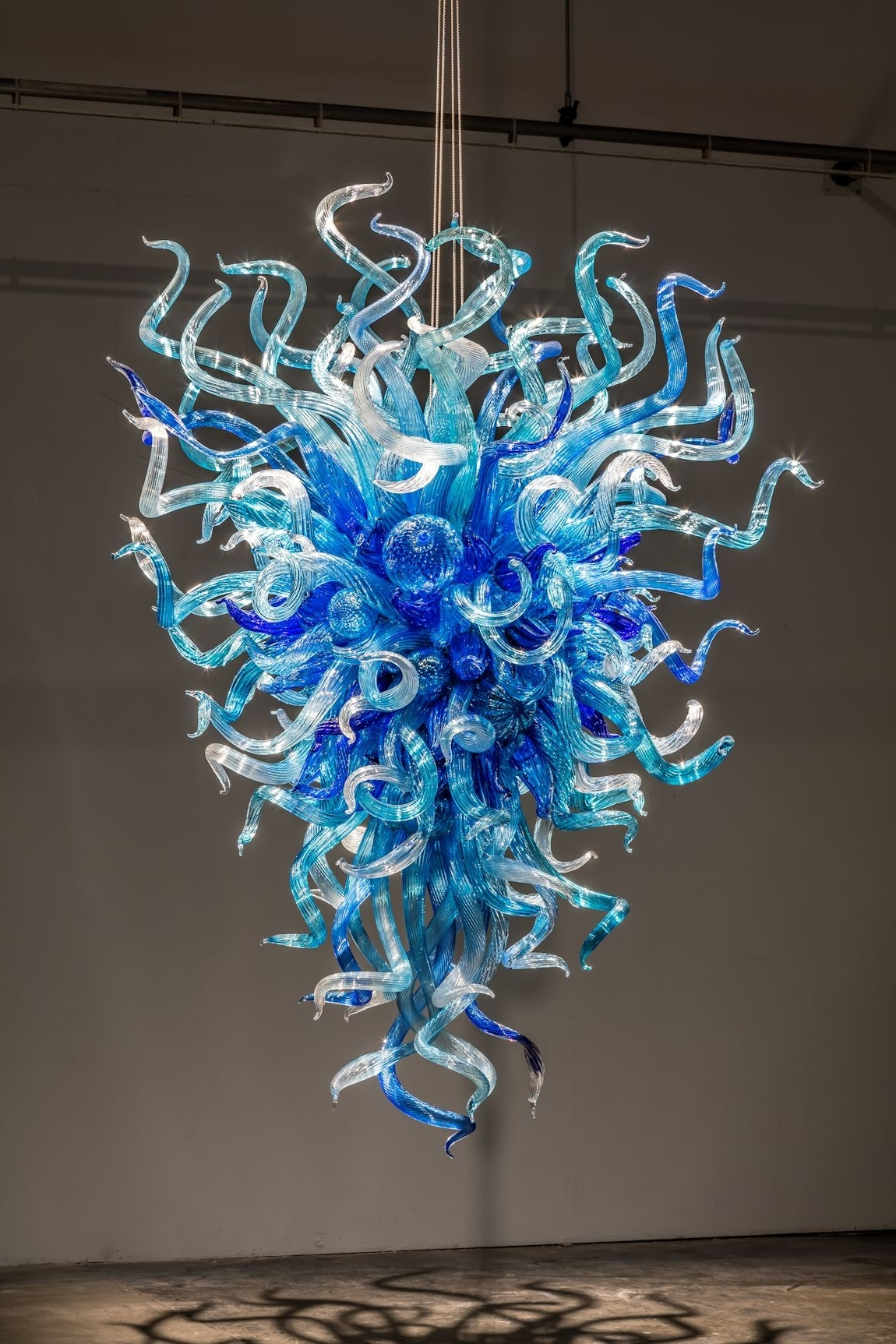 Turquoise Orb Chandeliers With Regard To Most Recently Released Chandeliers Design : Wonderful Chihuly Chandelier Hanging Blue (View 19 of 20)