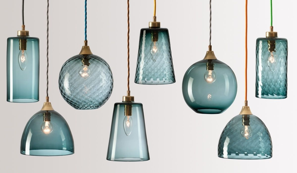 Turquoise Pendant Chandeliers In Well Liked Flodeau – Handblown Glass Lightingrothschild Bickers  (View 12 of 20)