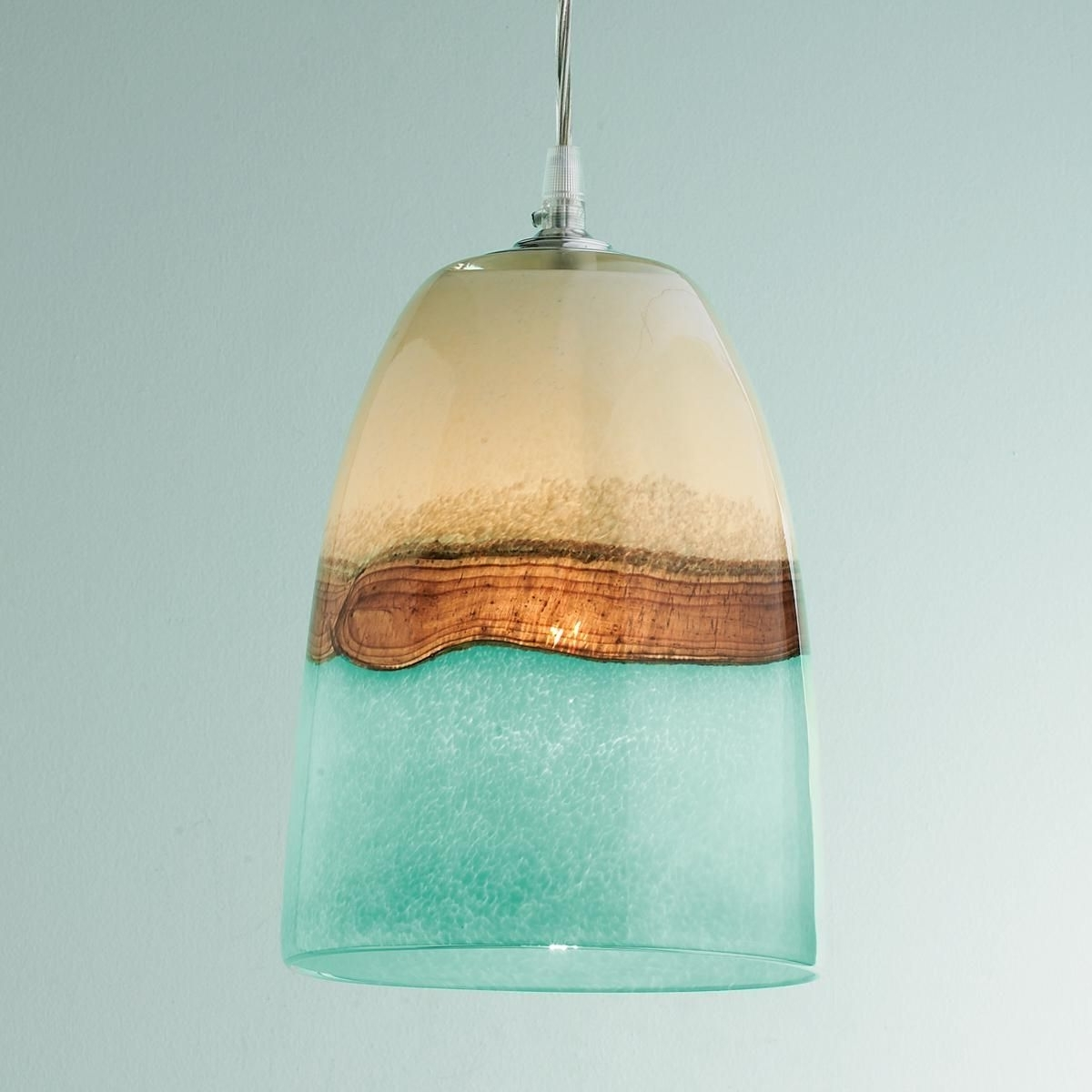 Turquoise Pendant Chandeliers Regarding Latest Strata Art Glass Pendant Light (View 16 of 20)