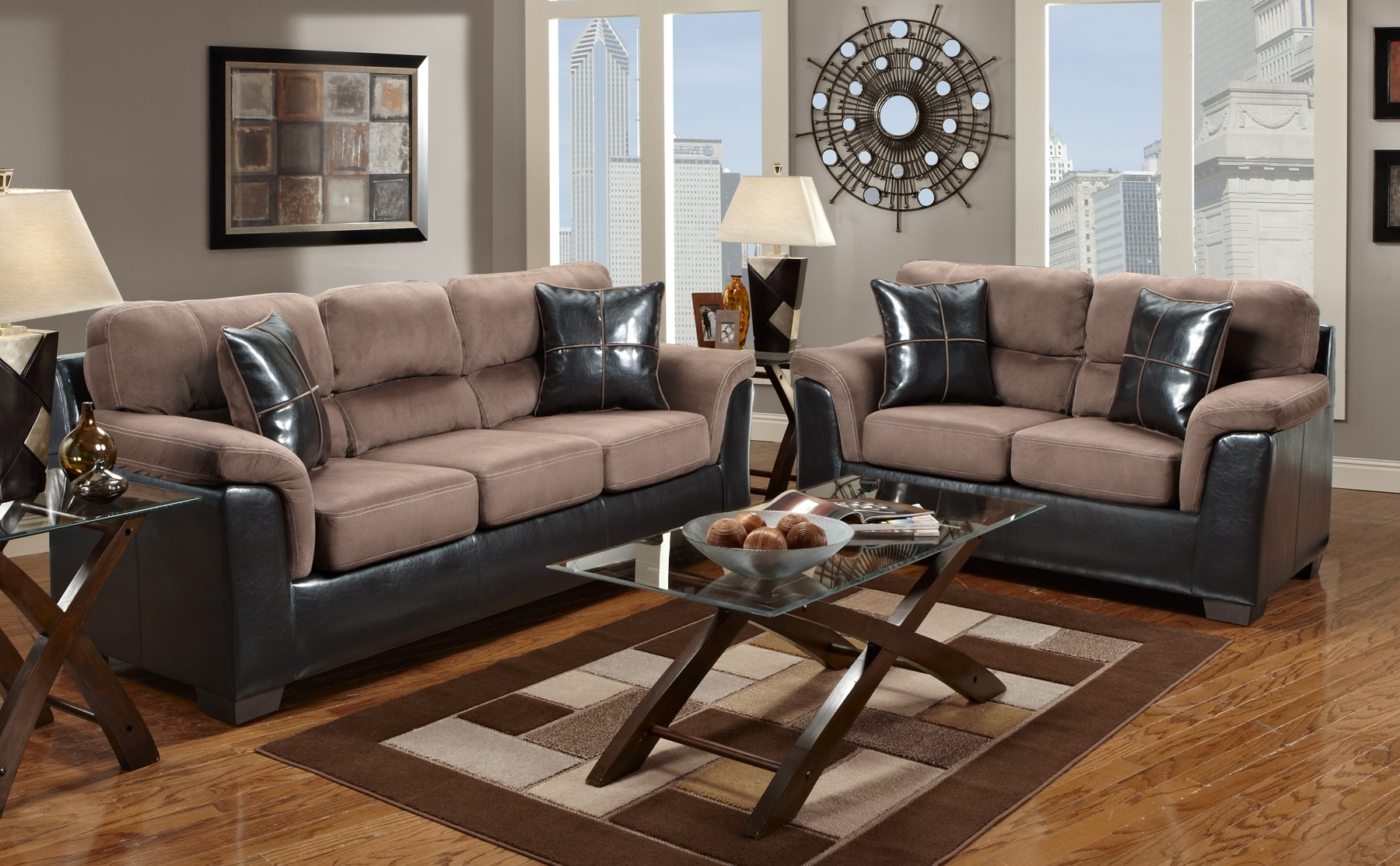 Two Tone Sofas In Most Current Recliners Chairs & Sofa : 42 Most Astonishing Two Tone Reclining (View 20 of 20)