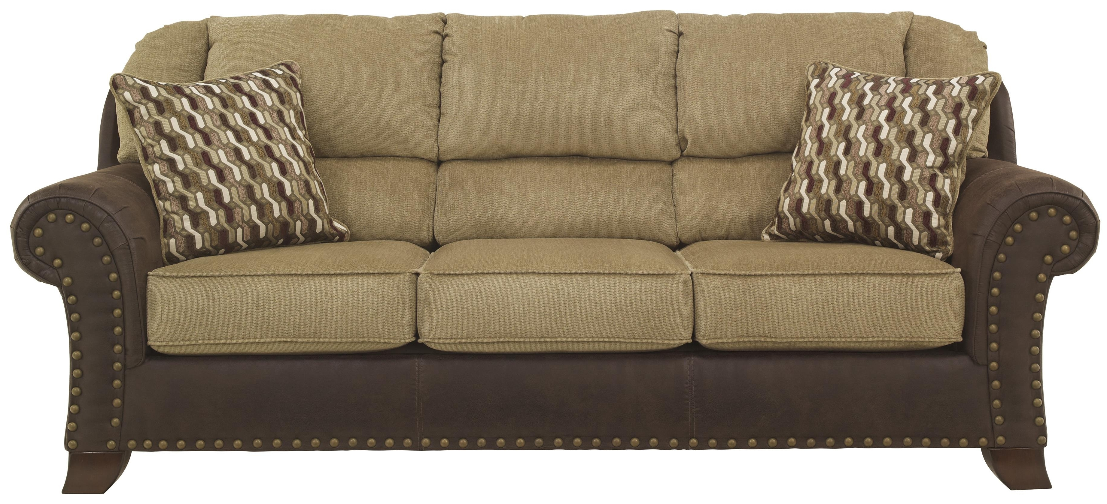 Two Tone Sofas Regarding Well Liked Two Tone Sofa With Chenille Fabric/faux Leather Upholstery (View 10 of 20)