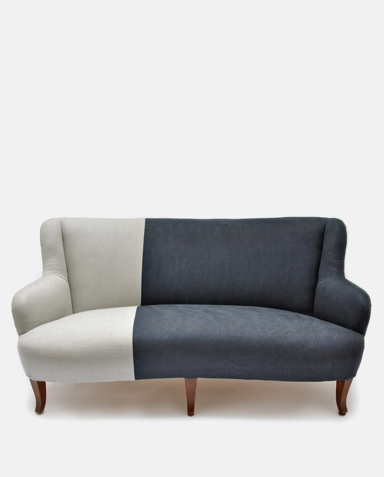 Two Tone Sofas Throughout Widely Used Vintage Two Tone Sofa Designers Guild Linen (View 14 of 20)