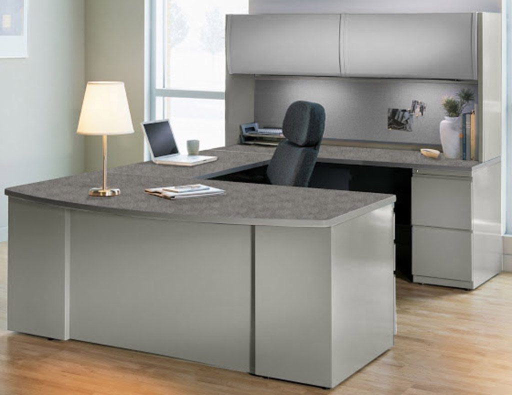 U Shaped Computer Desks In Most Current Steel And Laminate Desk Series – In Stock! (View 4 of 20)