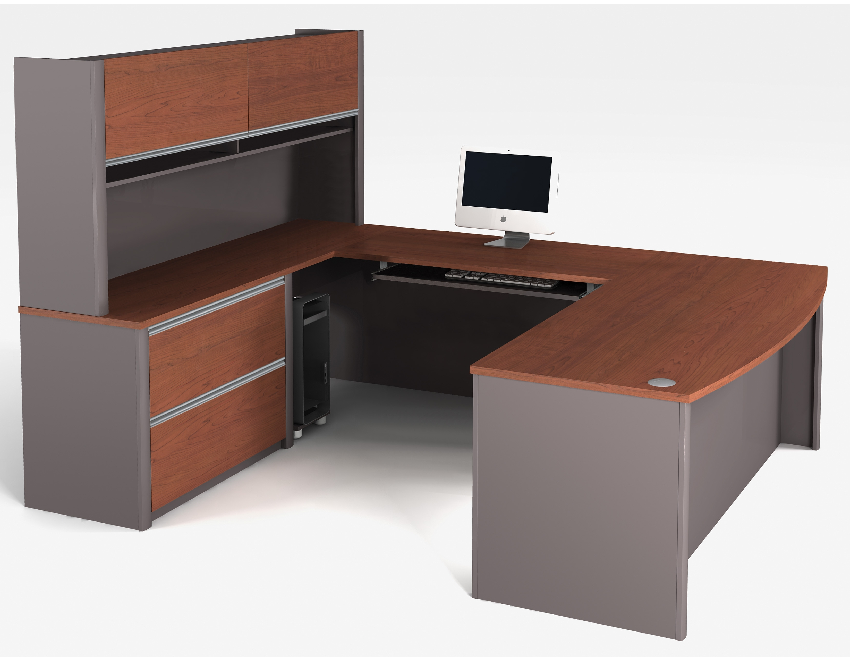 U Shaped Computer Desks In Recent 69 Most First Class Compact Desk U Shaped Workstation Wooden (Gallery 20 of 20)