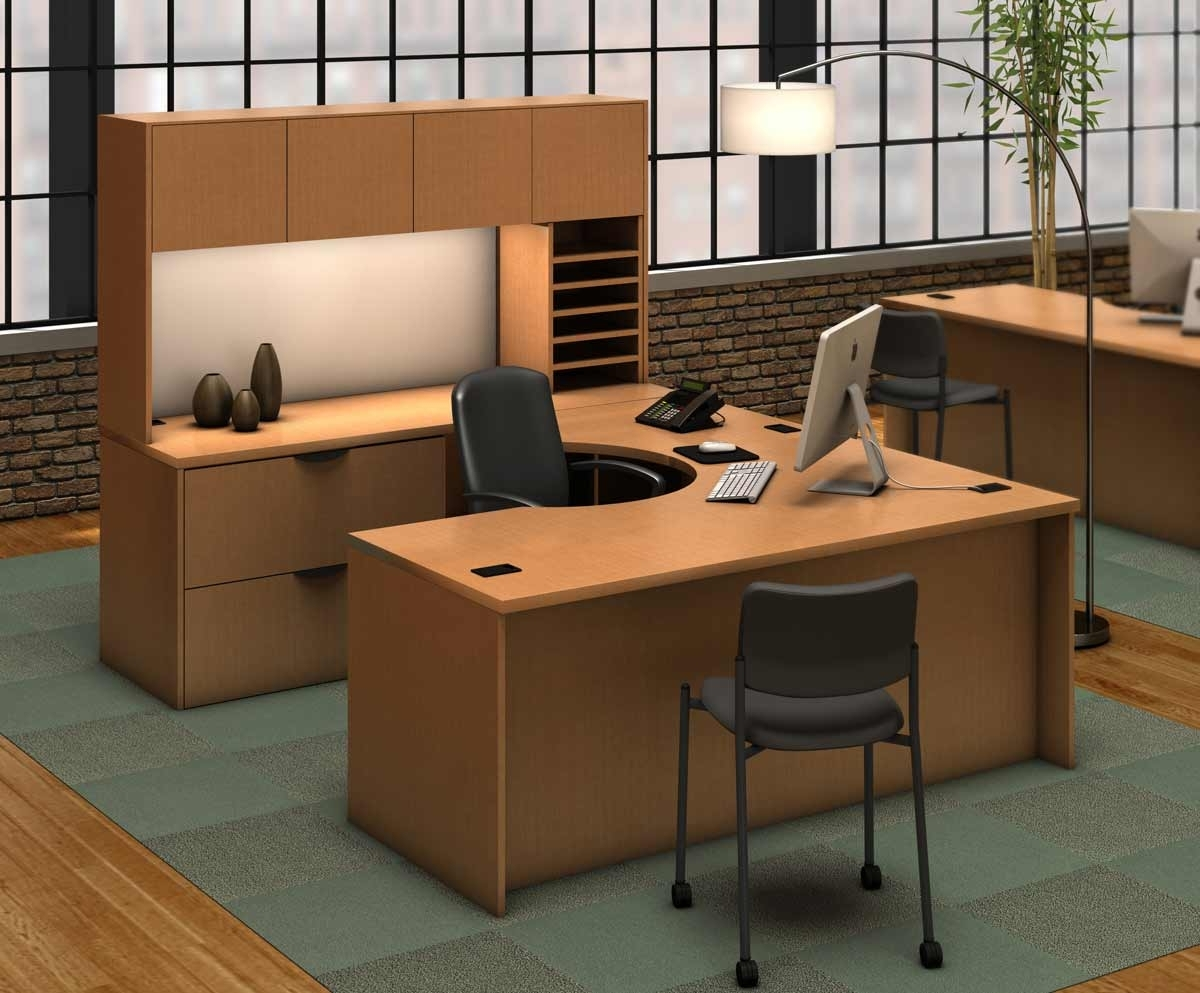 U Shaped Computer Desks Intended For Preferred U Shaped Office Desk Style — Home Ideas Collection : Create Cozy U (View 13 of 20)