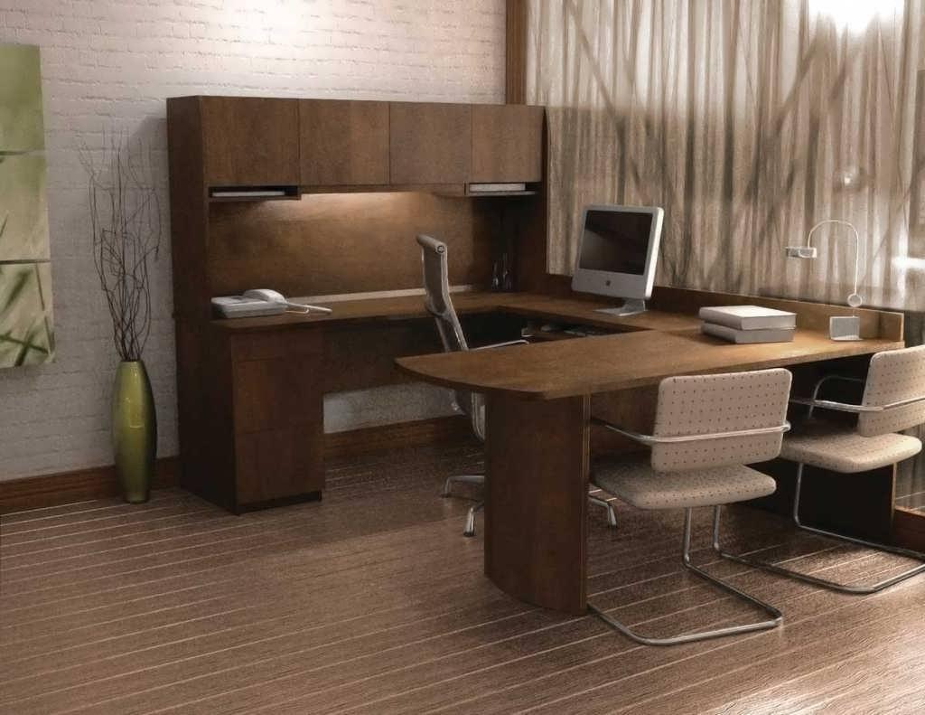 U Shaped Computer Desks Regarding Well Liked Office Desk : Cheap Corner Desk U Shaped Workstation Desks C (Gallery 18 of 20)