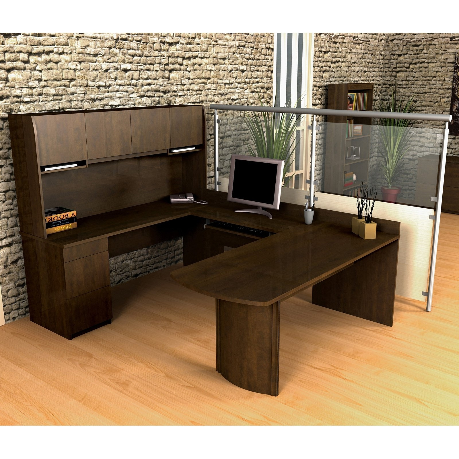 U Shaped Computer Desks Within Widely Used U Shaped Computer Desk Plans — Desk Design : Executive U Shaped (Gallery 12 of 20)