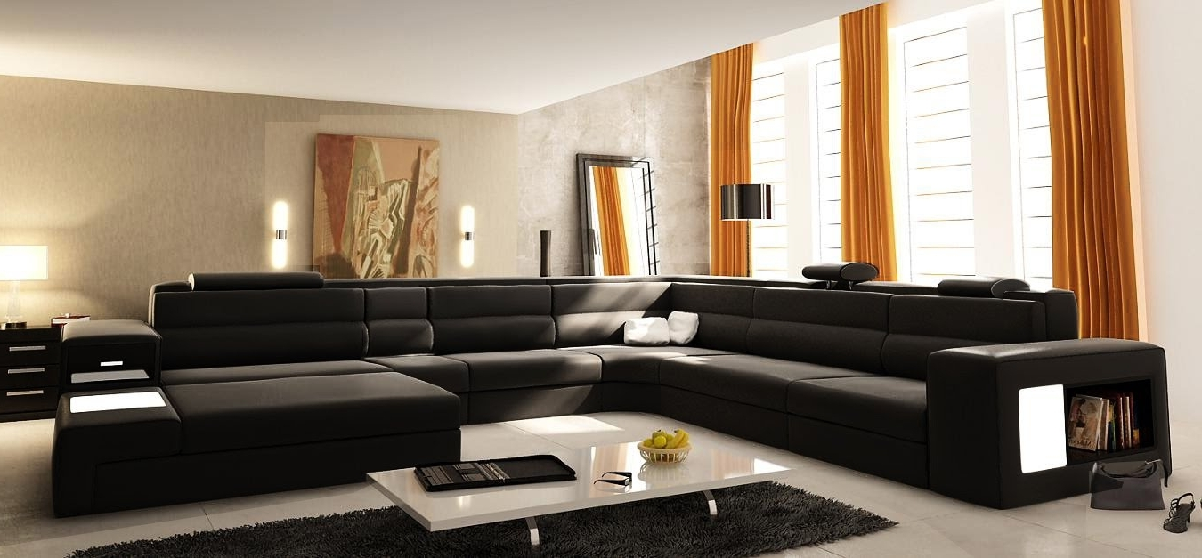 U Shaped Leather Sectional Sofas Intended For Most Current Small U Shaped Couch : Mtc Home Design – Appealing U Shaped (View 2 of 20)
