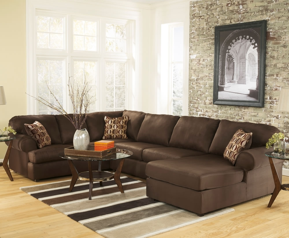 U Shaped Sectional Sofas Within Widely Used Brown U Shaped Sectional Sofa All About House Design : U Shaped (Gallery 16 of 20)