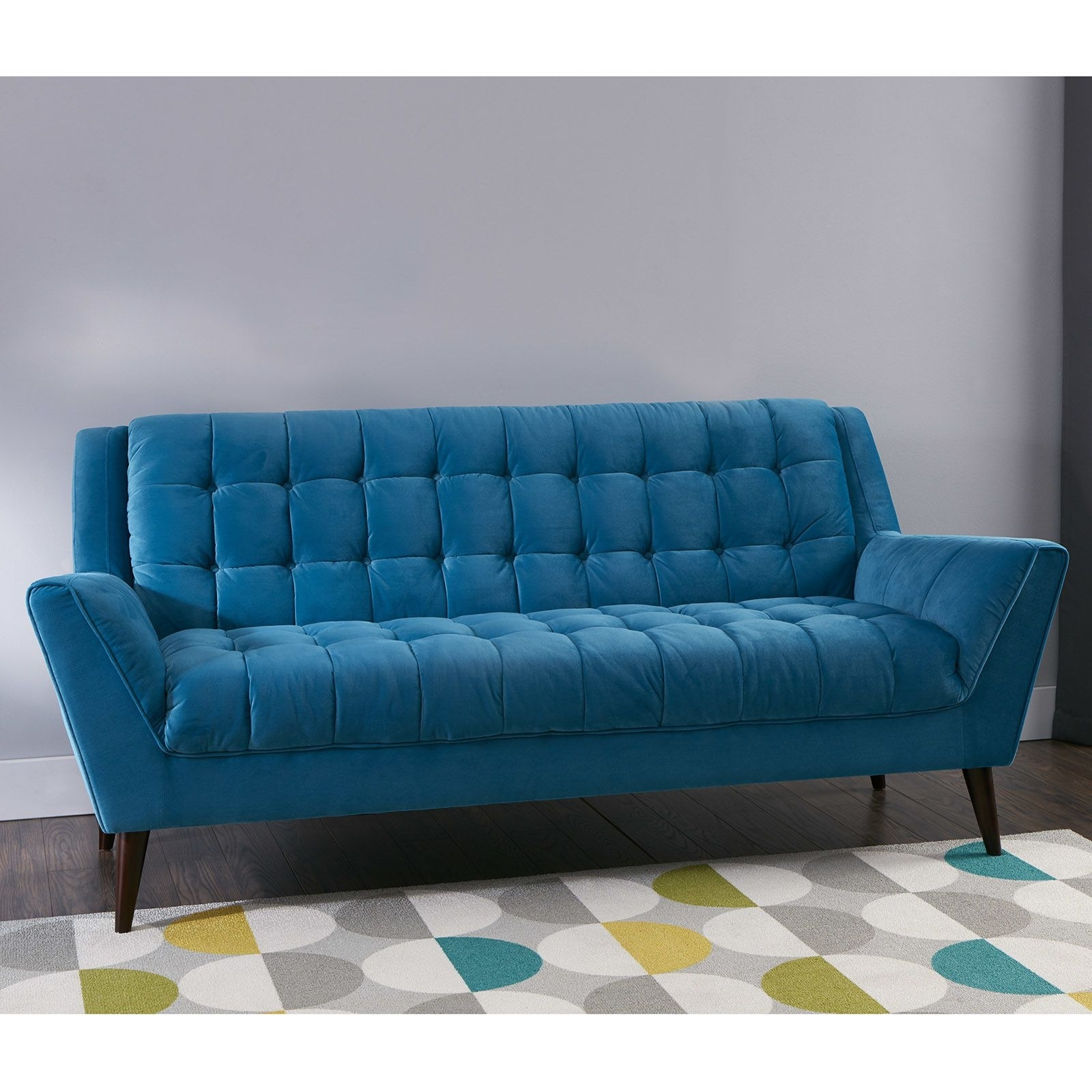 Unbelievable Braxton Midcentury Modern Retro Sofa Teal At Home Of Within Well Known Cheap Retro Sofas (View 10 of 20)