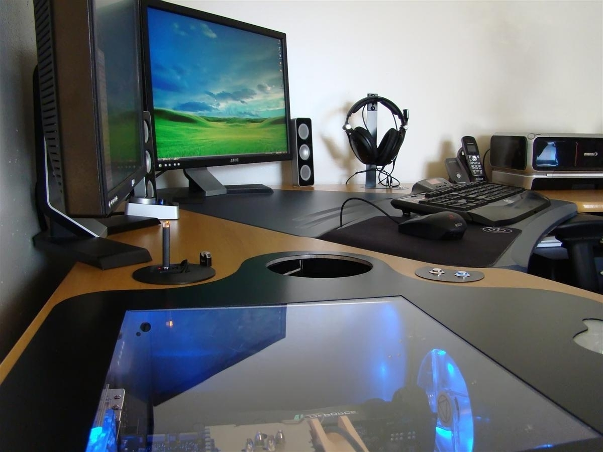 Unique Computer Desks Pertaining To Recent Furniture: Workspace With Unique Computer Desk Ideas And Interior (View 20 of 20)