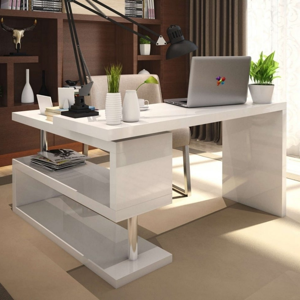Unique Computer Desks Within Most Popular Desk : Best Computer Table Thin Wooden Desk Unique Computer Desks (View 10 of 20)