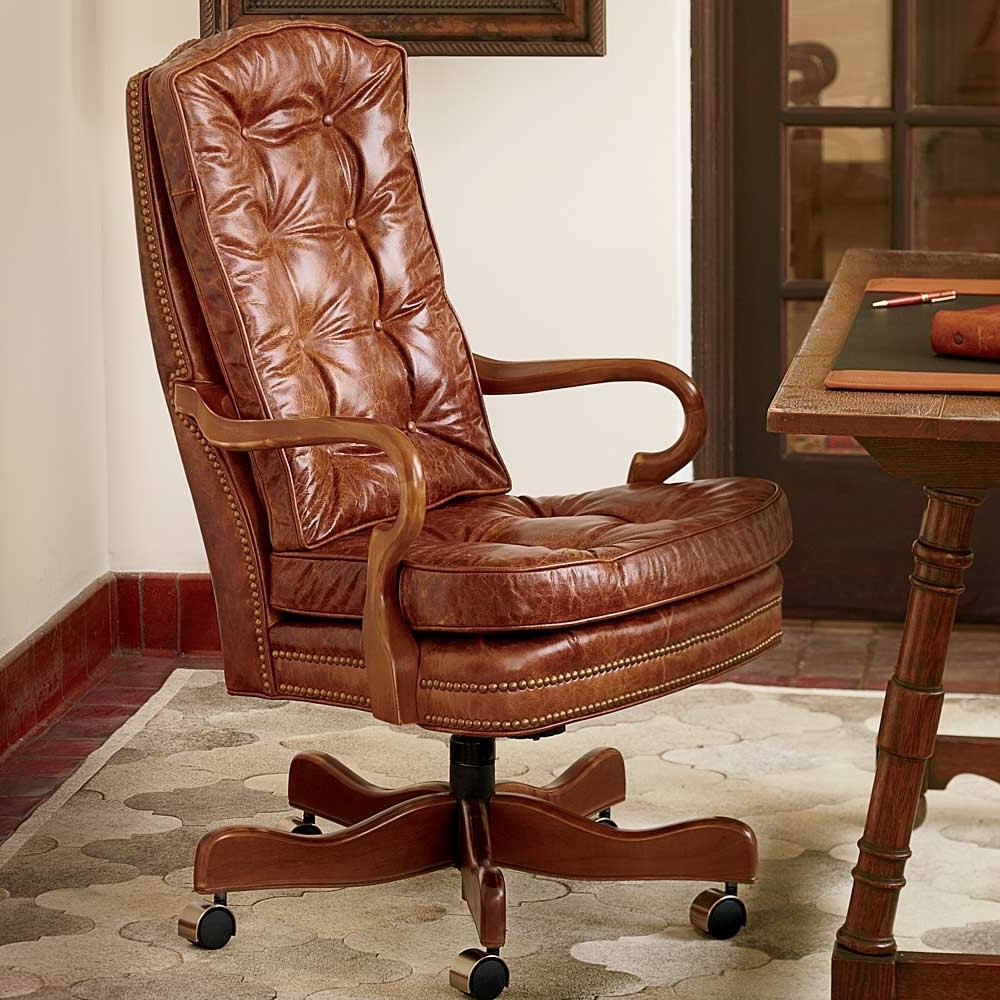 Unique Executive Office Chairs With Regard To Widely Used Furniture: Cool Sligh Furniture Brown Office Chairs With Rugs And (View 20 of 20)
