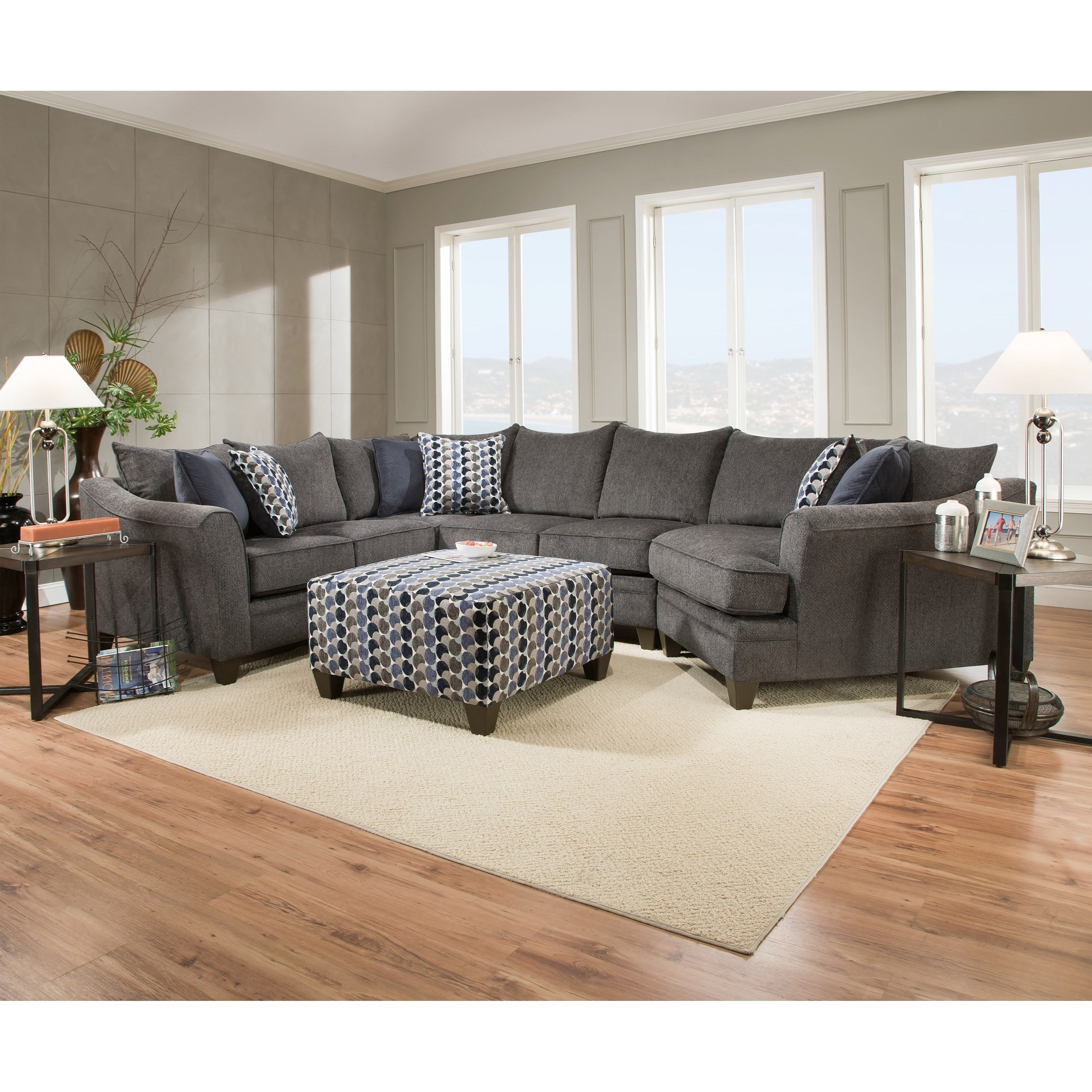 United Furniture Industries 6485 Albany Slate Transitional In 2019 Wilmington Nc Sectional Sofas (Gallery 7 of 20)