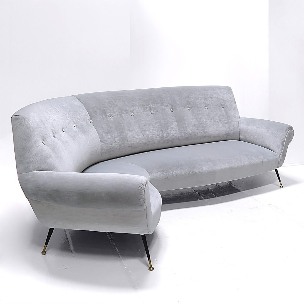 Unusual Sofa With Regard To Recent Sofa : White Leather Curved Sectional Modern Curved Sectional (View 16 of 20)