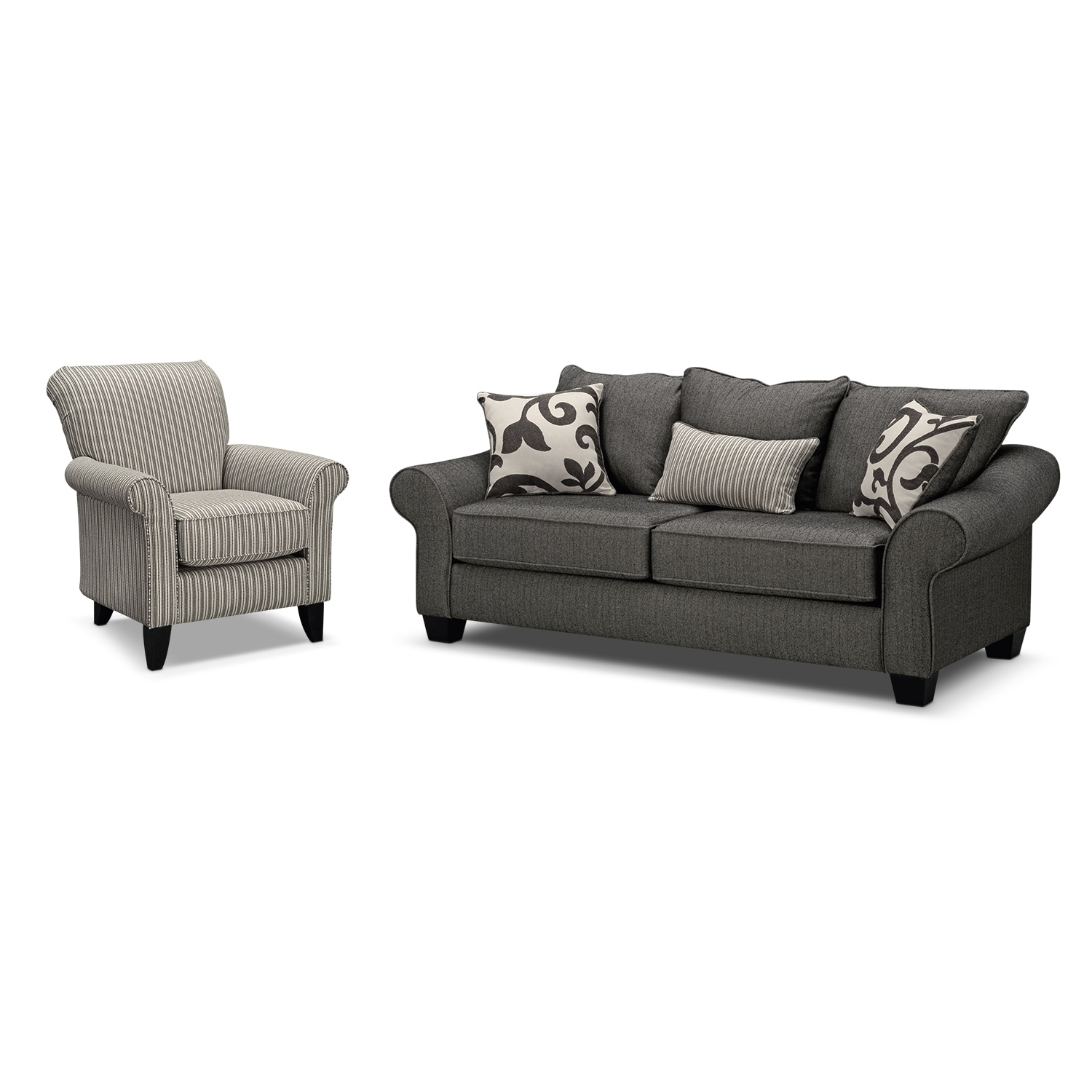 Value City Furniture Intended For Sofa And Accent Chair Sets (View 8 of 20)