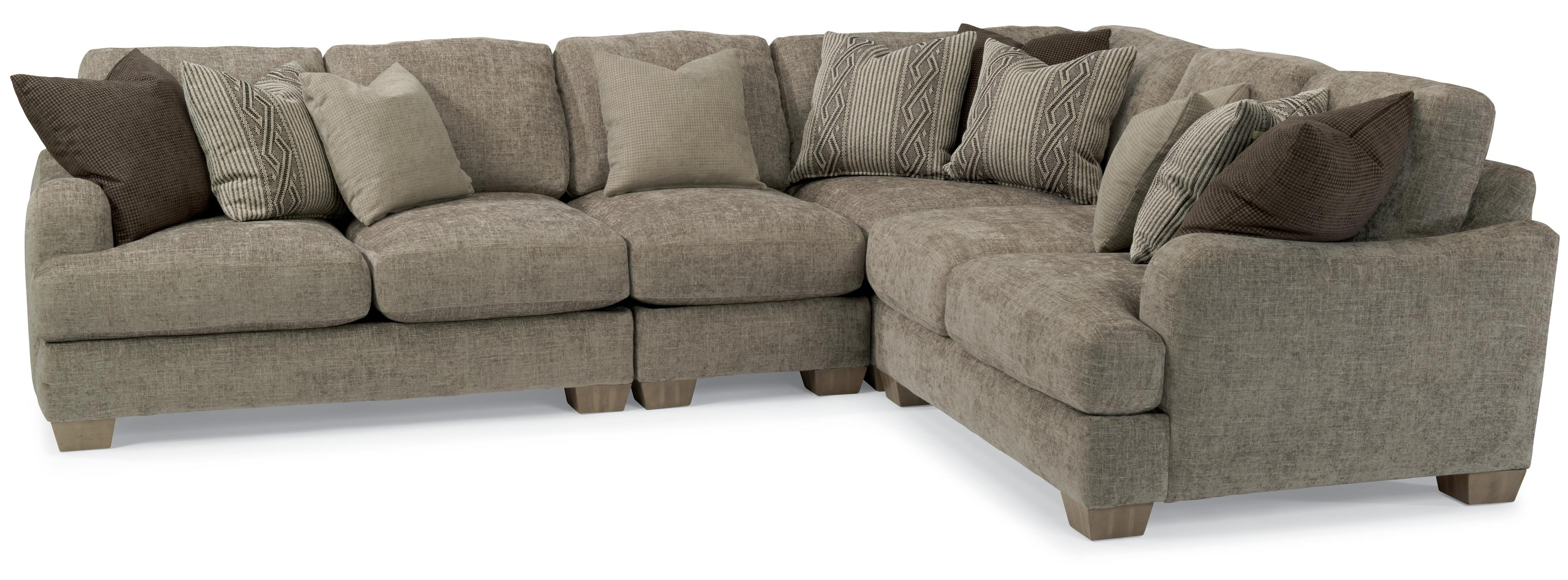 Vanessa Sectional Sofa With Loose Pillow Backflexsteel Throughout Fashionable Kansas City Sectional Sofas (View 18 of 20)
