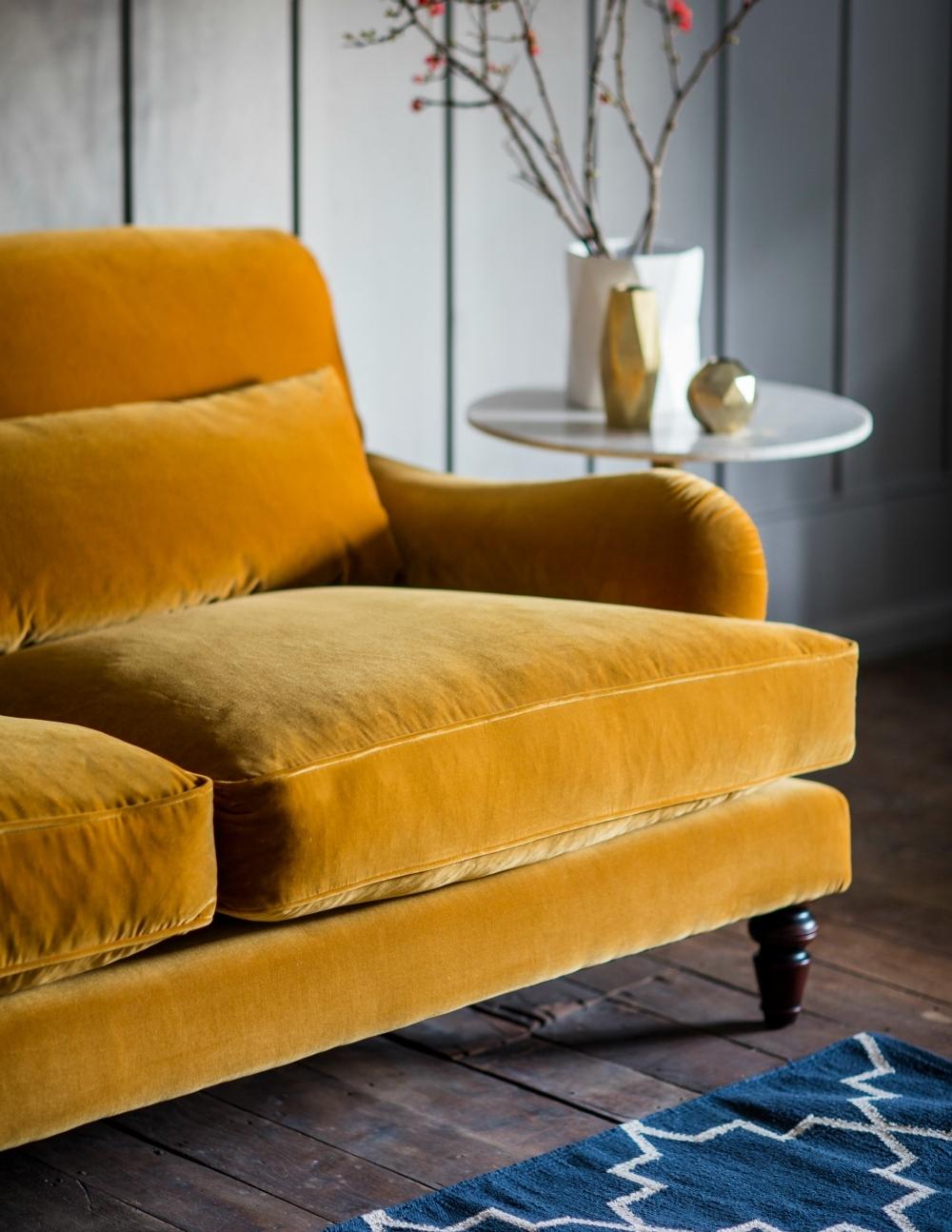 Velvet Sofas Regarding Famous Three Seater Or Two Seater Velvet Sofa (View 7 of 20)
