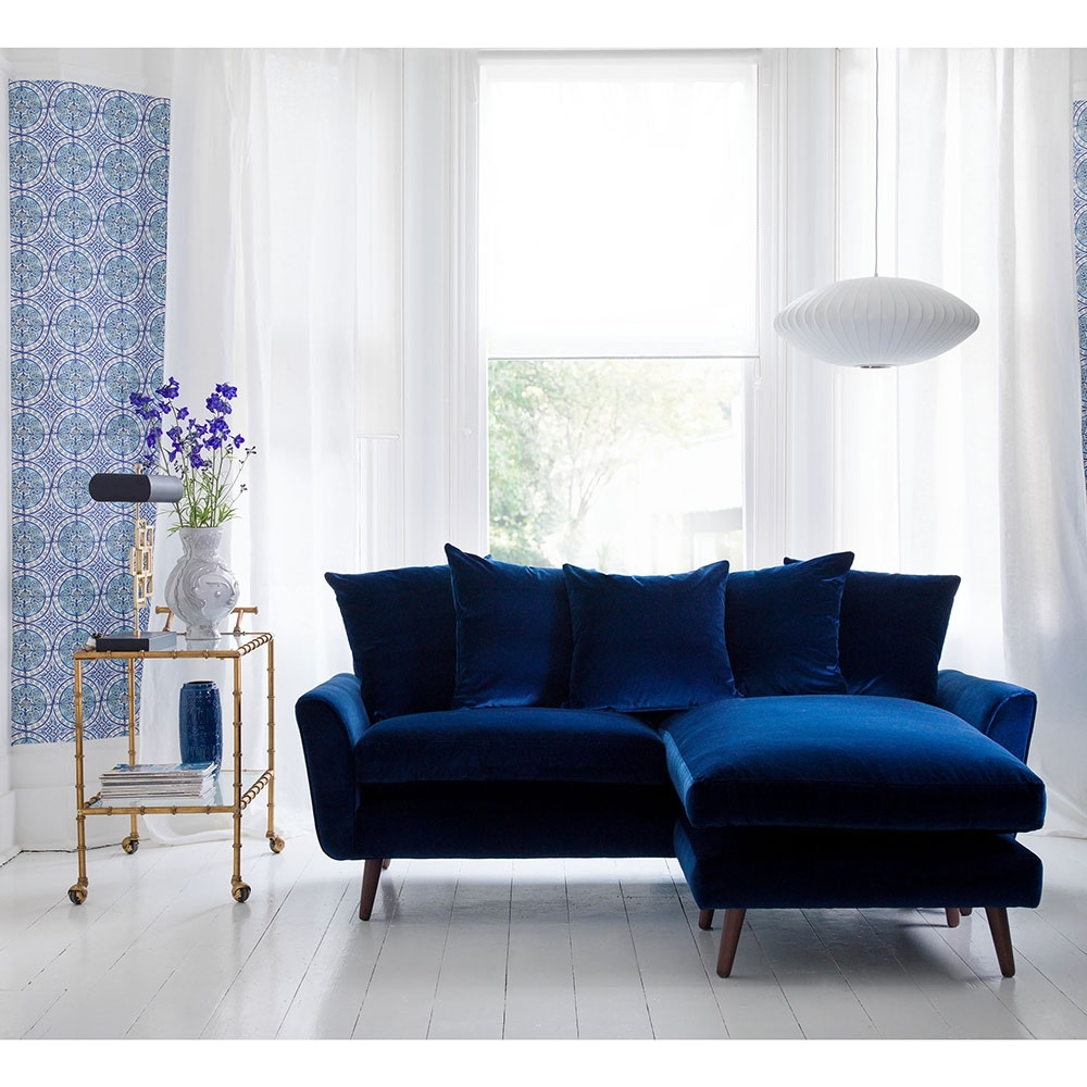 Velvet Sofas With Regard To Best And Newest Blue Velvet Sofa: It's A Trend In Decoration Art Decor Homes (Gallery 4 of 20)